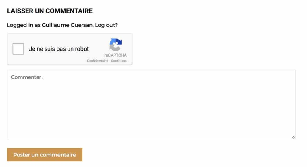 recaptcha commentaires wordpress