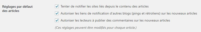 Activer Pingbacks sur WordPress