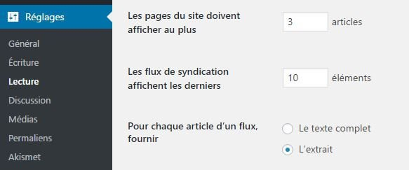 Tronquer flux rss sur WordPress