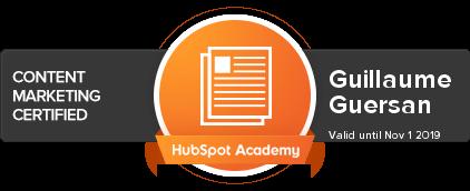 Hubspot-Content-Marketing-Certified-Guillaume-guersan