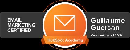 Hubspot-Email-Marketing-Certified-Guillaume-guersan