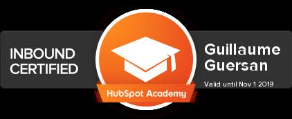 Hubspot-Inbound-Certified-Guillaume-guersan
