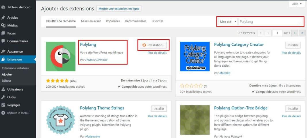 installer-polylang-multilingue-wordpress