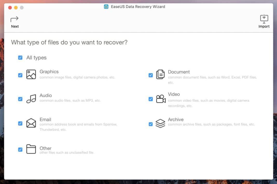 chercher types fichiers mac