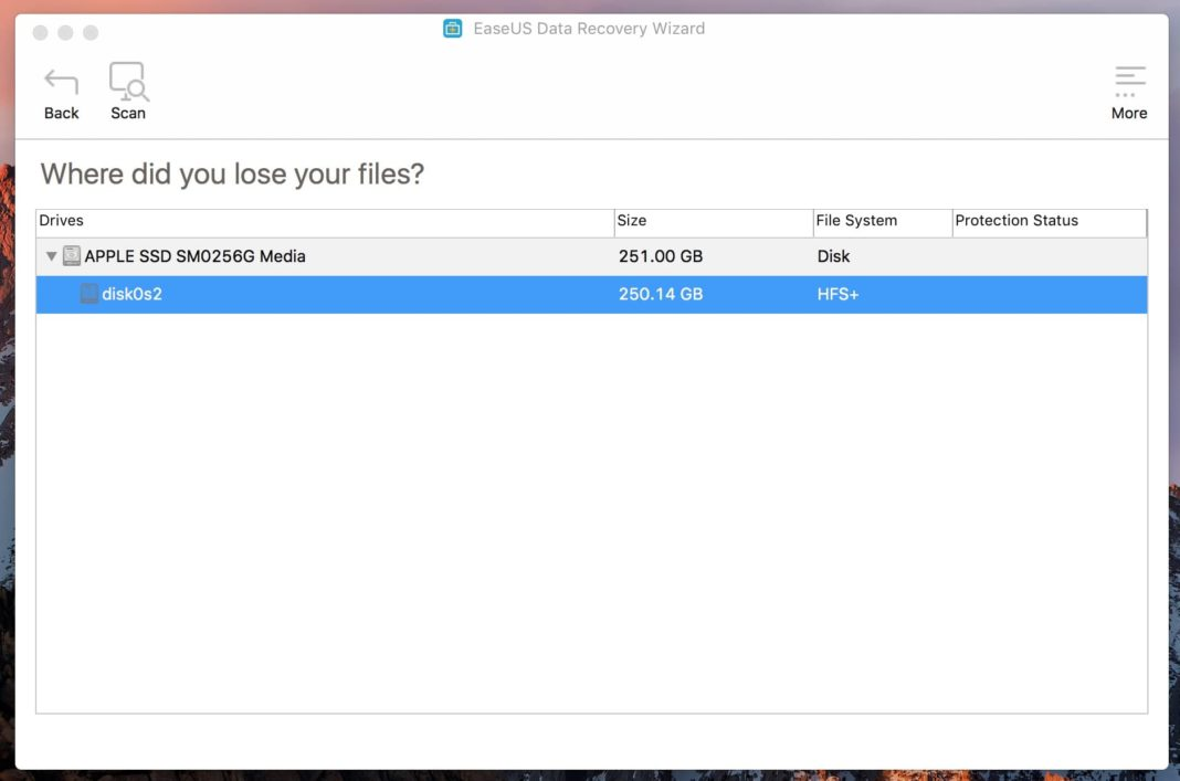 quel disque retrouver fichier perdu mac