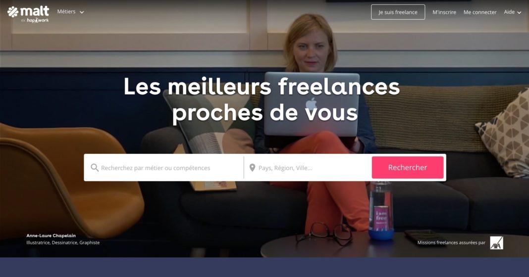 plateforme freelance malt hopwork
