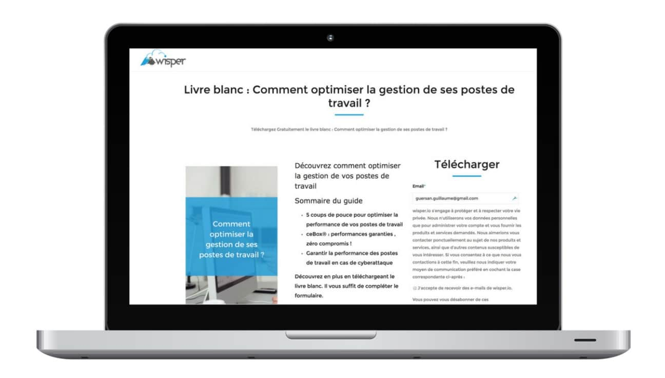 inbound marketing landing page livre blanc