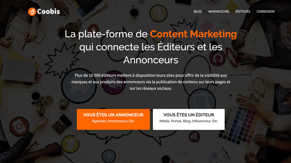 coobis plateforme content marketing