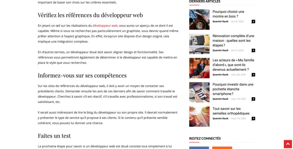 formation rédacteur web exemple article seo