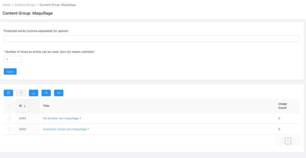 articles et contenus dans RankerX